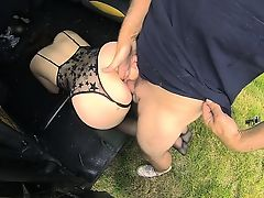 Pretty Cherri takes a wonderful tour and fuck in the cab