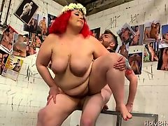 BBW femdoms Mimosa and April in deed